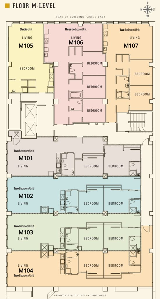 Floor Plan of M Level of Sterchi Building in Knoxville TN